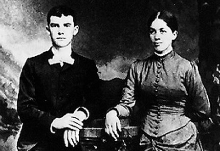 President Eishenhower and his wife, Ida Elizabeth Stover Eisenhower, who was rumored to have Black ancestry