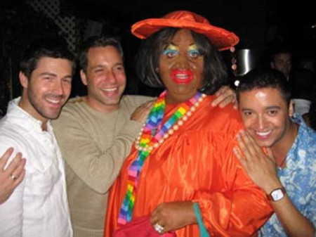 "Knipp as Ms. Shirley, along with 3 hosts from Bravo's ""Queer Eye for the Straight Guy"""